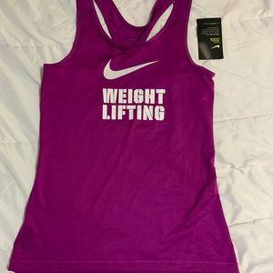 Nike weightlifting tank. Medium